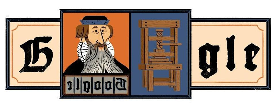 <p>Why is Google Doodle honouring Johannes Gutenberg and what did he invent? </p> (Google )