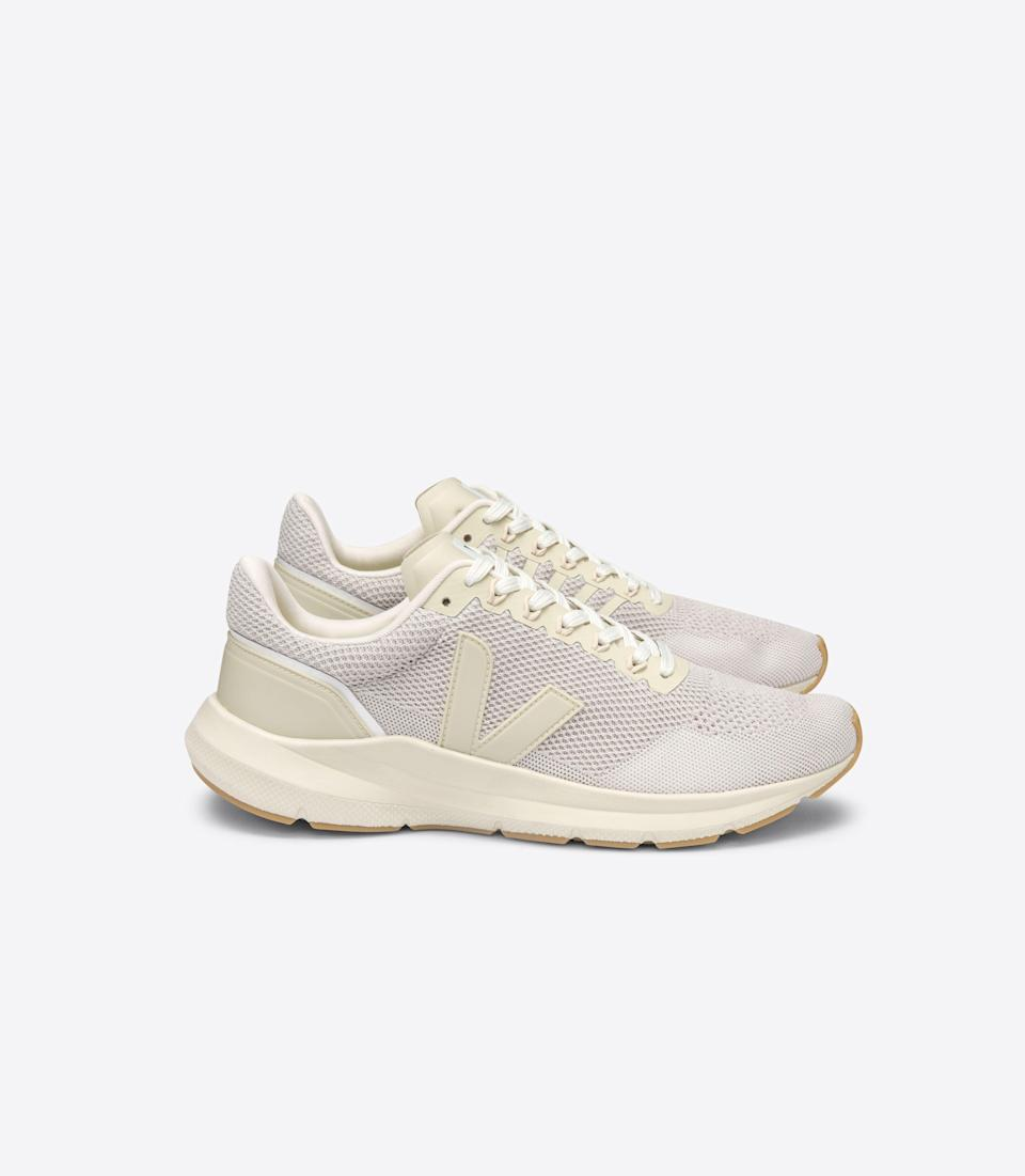 """<p><strong>Veja </strong></p><p>veja-store.com</p><p><strong>$180.00</strong></p><p><a href=""""https://www.veja-store.com/en_us/marlin-v-knit-chalk-pierre-natural-ln102575.html"""" rel=""""nofollow noopener"""" target=""""_blank"""" data-ylk=""""slk:Shop Now"""" class=""""link rapid-noclick-resp"""">Shop Now</a></p><p>VEJA's latest fitness shoe, Marlin, is designed with performance in mind. This light and dynamic shoe is still comfortable and supportive enough for everyday use. The upper v knit of this shoe and the tech lining are each made with 100% recycled plastic bottles. This shoe is made with other natural materials such as sugar cane, Amazonian rubber, rice waste, soy, and palm oil. </p>"""