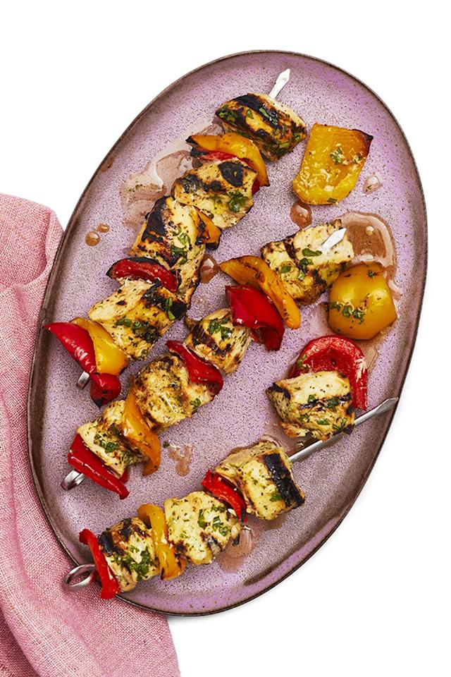 "<p>The secret to these tasty, tangy kebabs is to marinate the meat in lemonade – the sugar acts as a tenderizer, resulting in incredibly delicious grilled chicken.</p><p><strong><em><a href=""https://www.womansday.com/food-recipes/food-drinks/a27453767/marinated-chicken-kebabs-recipe/"" target=""_blank"">Get the recipe »</a></em></strong></p>"