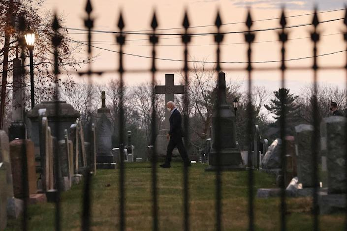 Biden leaves services Dec.12 at St.Joseph on the Brandywine, his home church in Wilmington, Del.