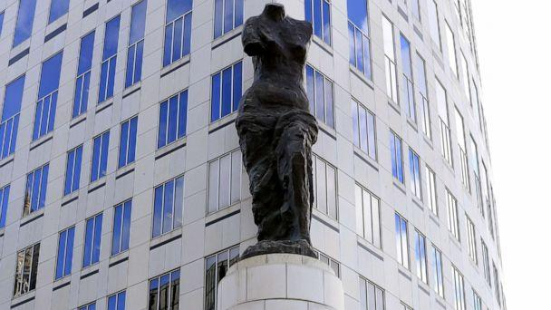 PHOTO: A view of the statue standing in front of the U.S. District Courthouse in Cleveland, Ohio, Oct. 18, 2019. (Aaron Josefczyk/Reuters)