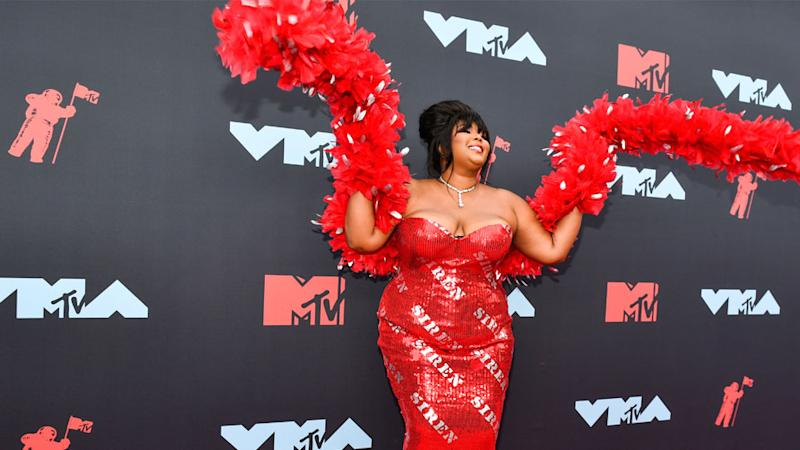 Lizzo's Sizzling 'Siren' Ensemble at The MTV VMAs is Her Most Glam Look Yet