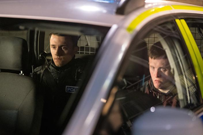 WARNING: Embargoed for publication until 00:00:01 on 30/03/2021 - Programme Name: Line of Duty S6 - TX: n/a - Episode: Line Of Duty - Ep 3 (No. n/a) - Picture Shows:  Ryan Pilkington (GREGORY PIPER), Terry Boyle (TOMMY JESSOP) - (C) World Productions - Photographer: Steffan Hill