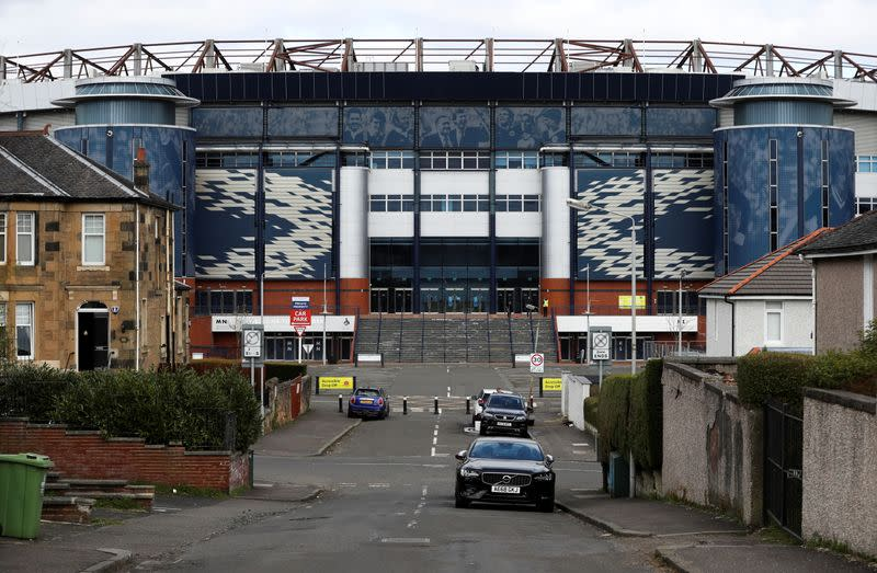 A general view of Hampden Park Stadium in Glasgow