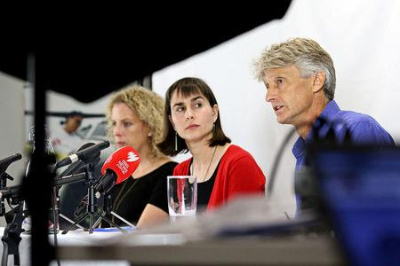Medecins Sans Frontieres (Doctors Without Borders) address the media in Sydney