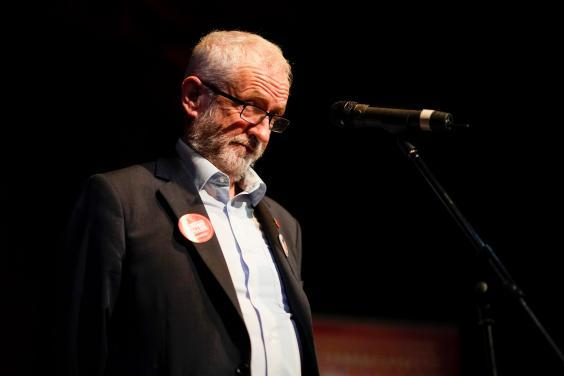 Jeremy Corbyn gives a speech to supporters at Darwen Library Theatre on Thursday (Getty)