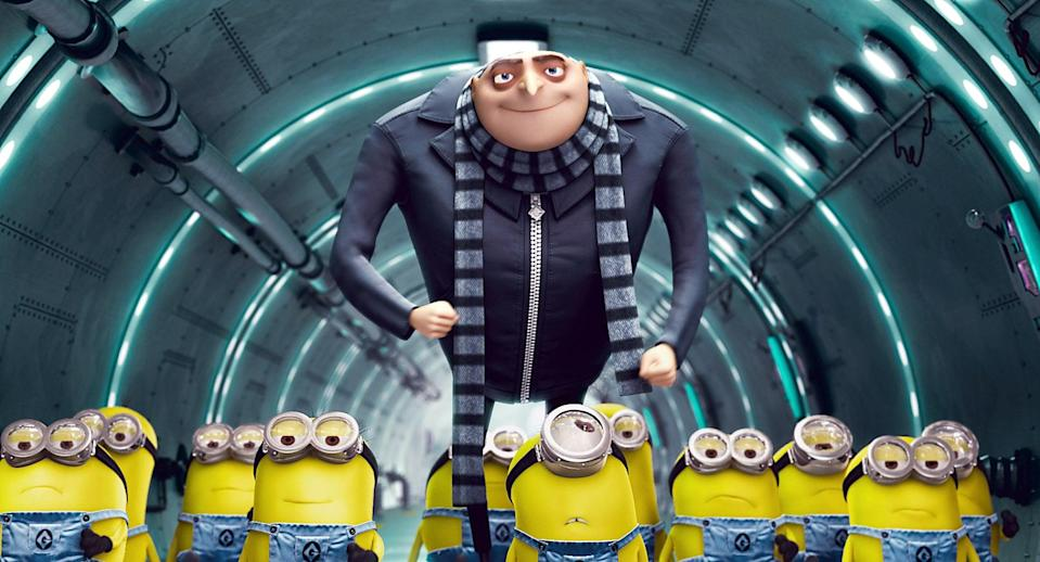 """<p><strong>Netflix's Description:</strong> """"Villainous Gru hatches a plan to steal the moon from the sky. But he has a tough time staying on task after three orphans land in his care.""""</p> <p><a href=""""https://www.netflix.com/title/70115629"""" class=""""link rapid-noclick-resp"""" rel=""""nofollow noopener"""" target=""""_blank"""" data-ylk=""""slk:Stream Despicable Me on Netflix!"""">Stream <strong>Despicable Me</strong> on Netflix!</a></p>"""