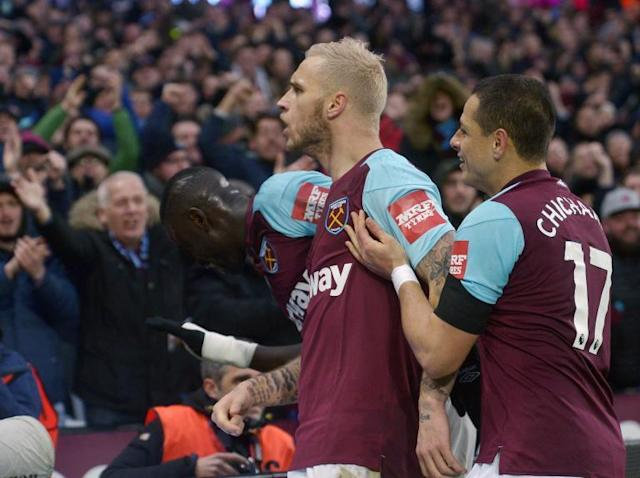 Javier Hernandez and Marko Arnautovic score as West Ham beat Watford to ease relegation fears