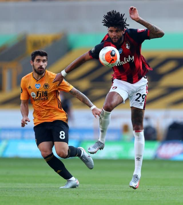 Ruben Neves , left, and Bournemouth's Phillip Billing both went close early on (Catherine Ivill/NMC Pool/PA)