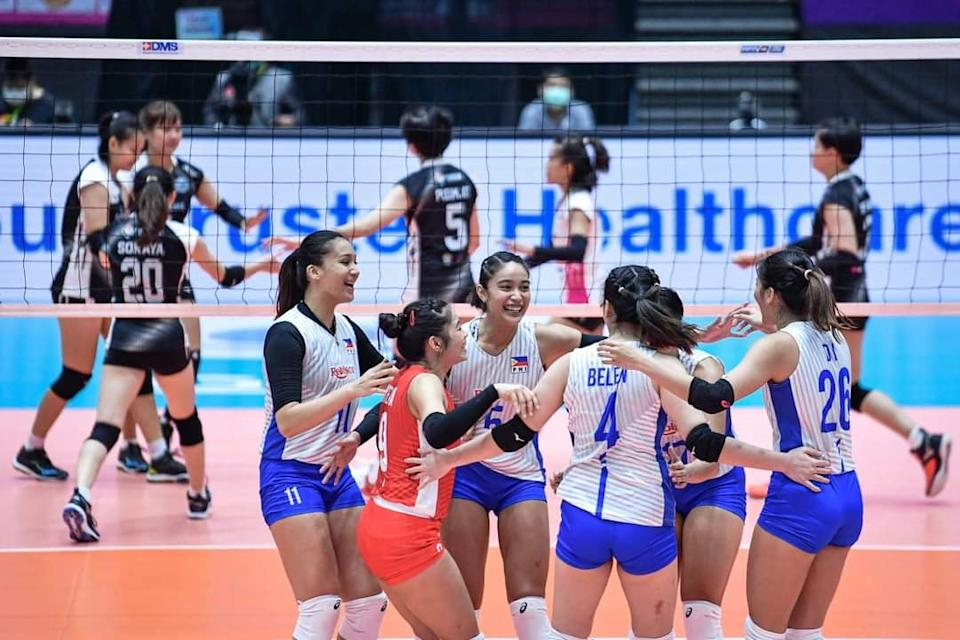 Rebisco Philippines falls to Supreme Chonburi in 2021 AVC Volleyball Championship. (Photo: AVC - Asian Volleyball Confederation/Facebook)