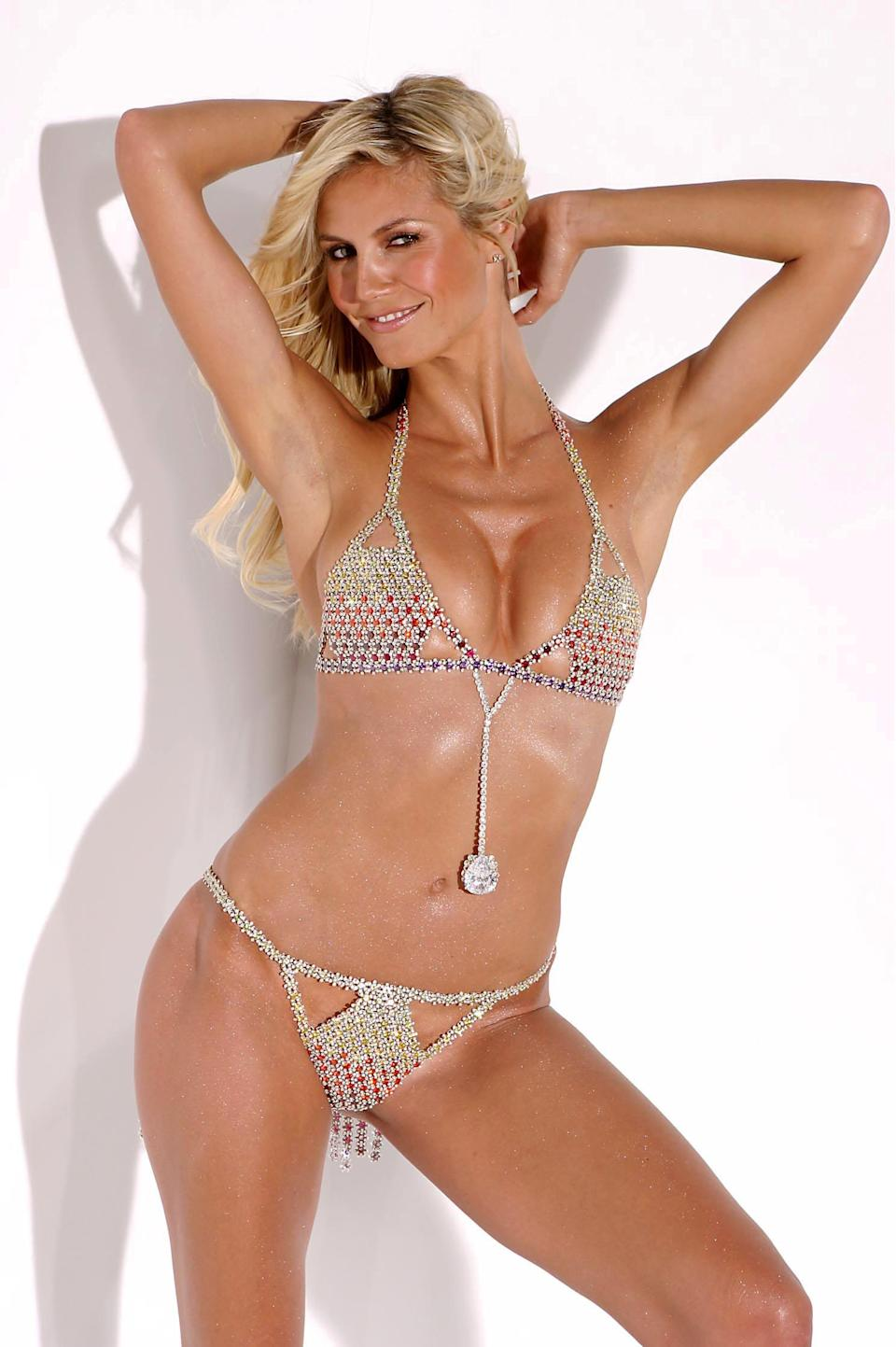 <p>The Very Sexy Fantasy Bra, costing $11 million, was modelled by German model Heidi Klum in 2003. <em>[Photo: Rex Features]</em> </p>