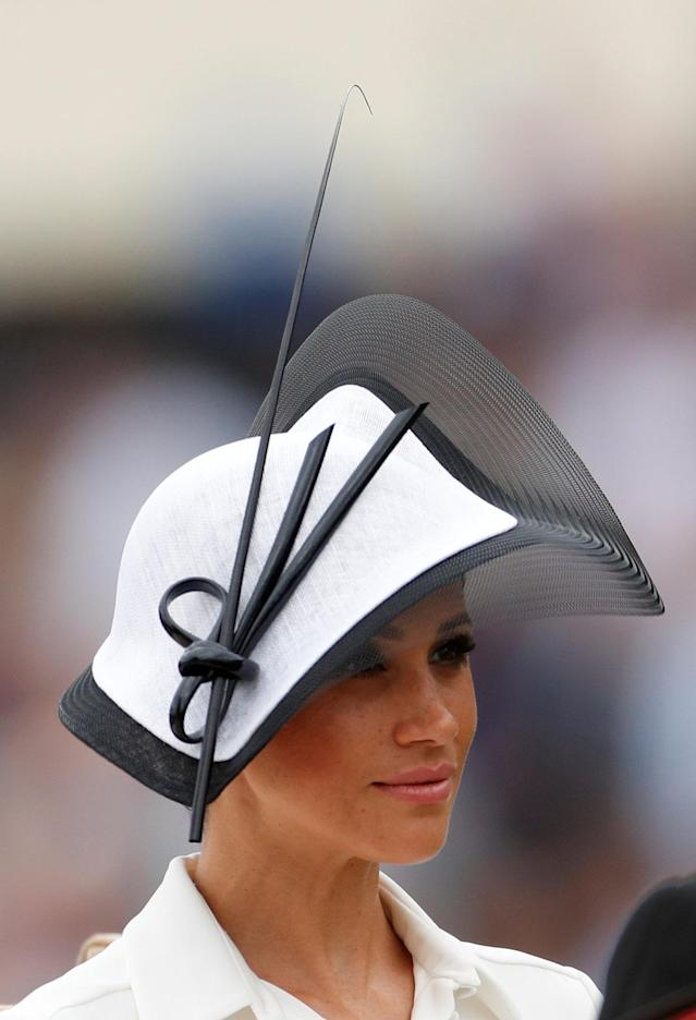 Horse Racing - Royal Ascot - Ascot Racecourse, Ascot, Britain - June 19, 2018 Meghan, the Duchess of Sussex arrives at Ascot racecourse REUTERS/Andrew Boyers
