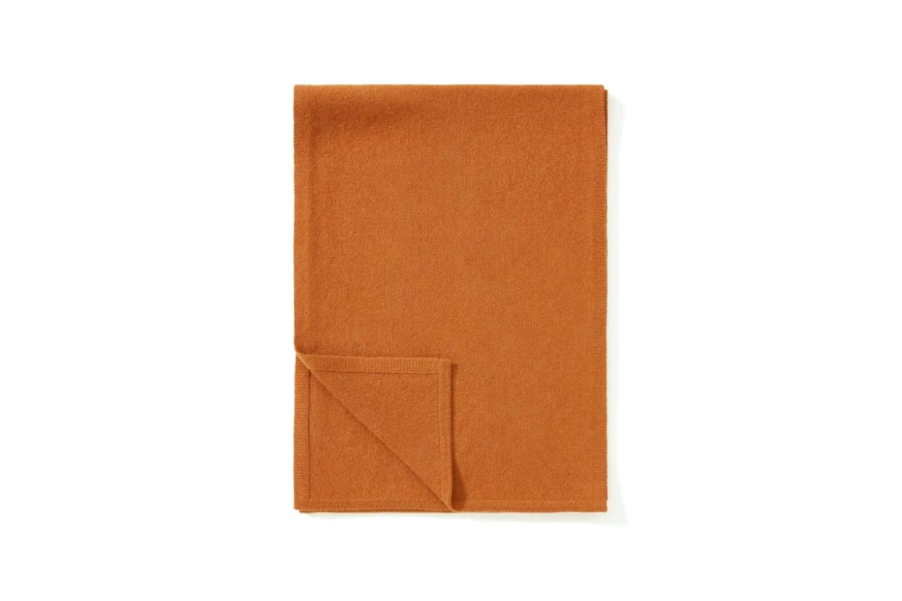 """$98, Everlane. <a href=""""https://www.everlane.com/products/mens-cashmere-scarf-cider?collection=mens-newest-arrivals"""">Get it now!</a>"""