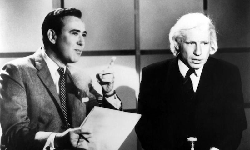 Reiner, left, with Mel Brooks on Your Show of Shows.