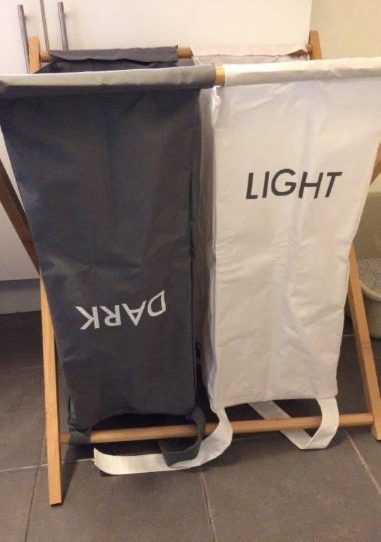 'Lights and Darks' laundry hamper from kmart