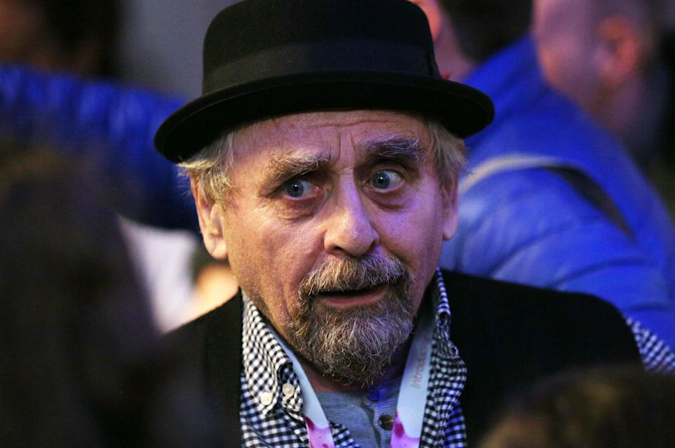 Former Doctor Who actor Sylvester McCoy at Edinburgh's Corn Exchange on the first day of Capital Sci-Fi Con. (Photo by David Cheskin/PA Images via Getty Images)