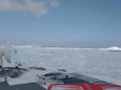View of Chile's Bernardo O'Higgins army base at Antarctica