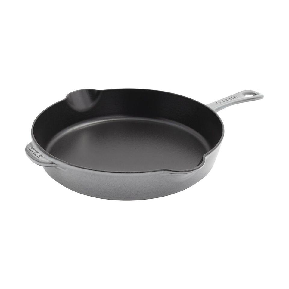 """<p><strong>Staub</strong></p><p>zwilling.com</p><p><a href=""""https://go.redirectingat.com?id=74968X1596630&url=https%3A%2F%2Fwww.zwilling.com%2Fus%2Fstaub-cast-iron-11-inch-frying-pan-graphite-grey-12322818%2F40506-558-0.html&sref=https%3A%2F%2Fwww.housebeautiful.com%2Fshopping%2Fbest-stores%2Fg35266255%2Fstaub-cookware-sale%2F"""" rel=""""nofollow noopener"""" target=""""_blank"""" data-ylk=""""slk:BUY NOW"""" class=""""link rapid-noclick-resp"""">BUY NOW</a></p><p><strong>$169.99 </strong><del><strong>$293</strong></del><strong> (58% off)</strong></p><p><del><br></del></p>"""
