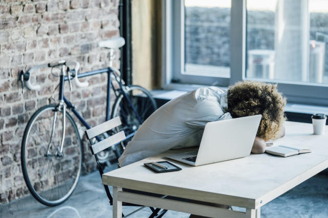 Naps could increase productivity a new survey has revealed (Getty)
