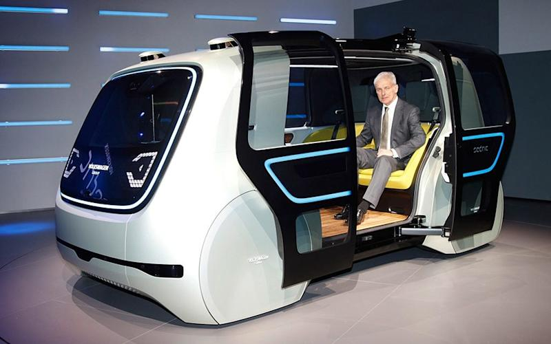 The Sedric is an SAE level five self-driving machine - Verwendung für Pressezwecke honorarfrei