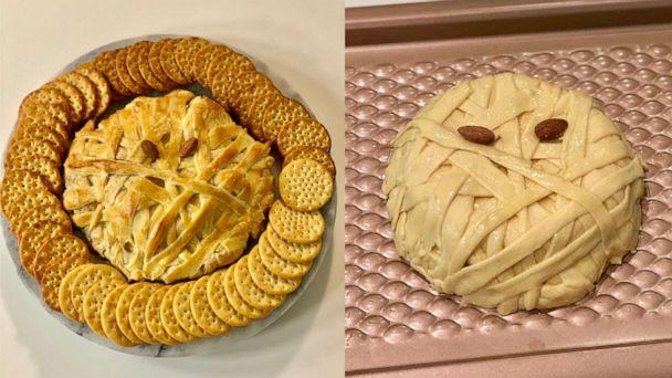 PHOTO: I made Pinterest's top trending Halloween recipes, which included mummy brie. ( )