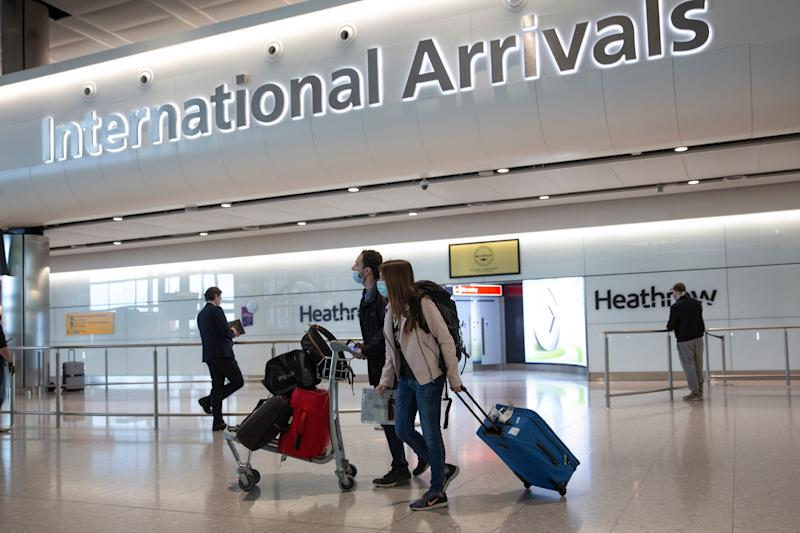 People travelling into the UK from dozens of countries will no longer have to self-isolate for 14 days. (Photo: ASSOCIATED PRESS)