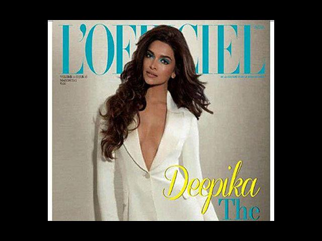 <b>10) Deepika Padukone for L'officiel, March</b><br>Dressed in Dior with dramatic icy-blue eye shadow, Deepika cuts quite a stunning picture. And the cover reiterates how hot this actress is! We are surely bowled over.