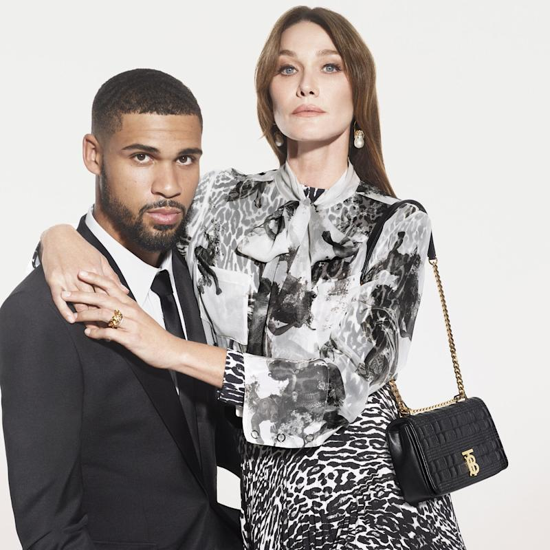 Carla Bruni with Ruben Loftus-Cheek in the new Burberry festive campaign - Mert & Marcus