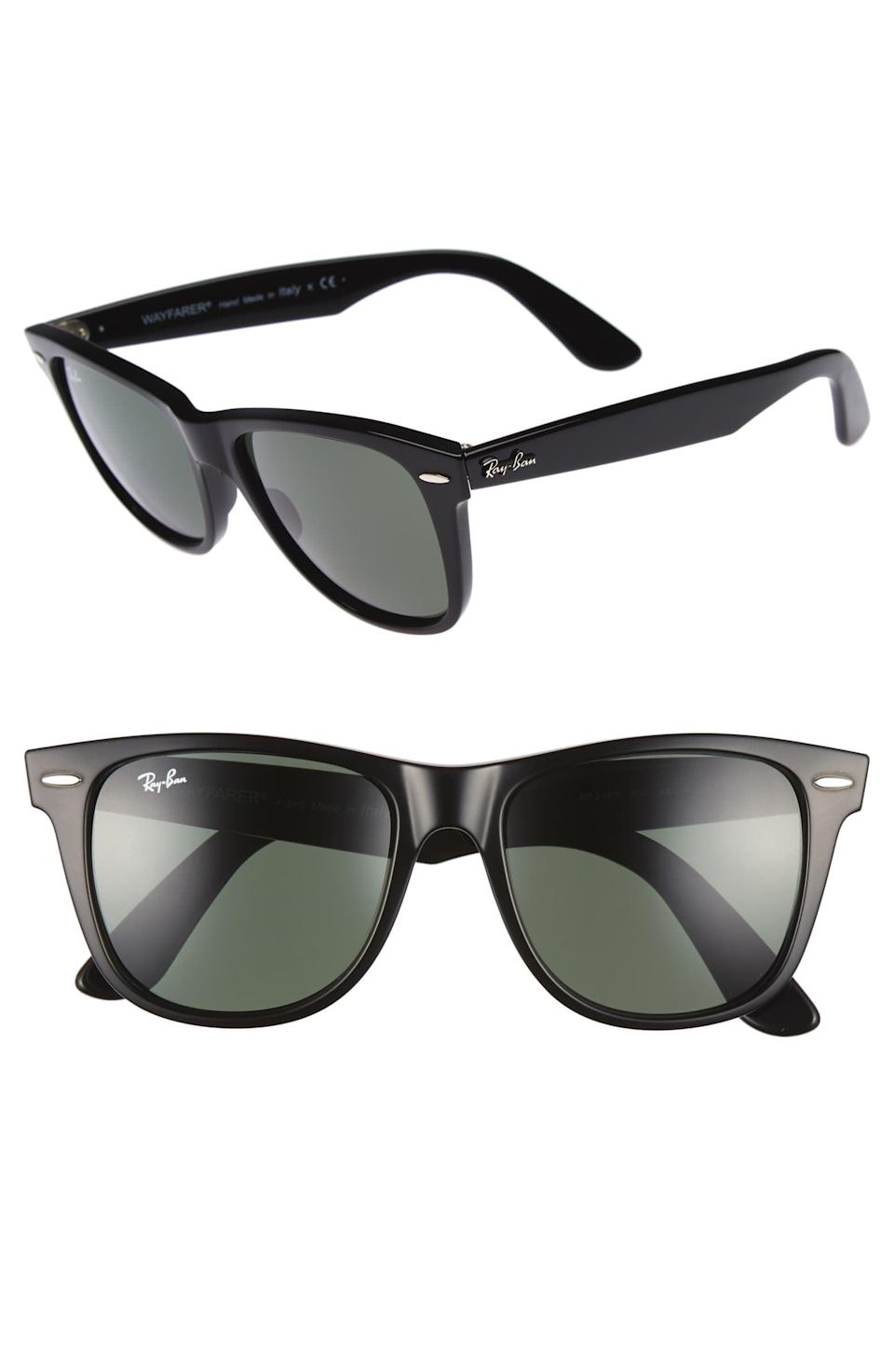 <p>Upgrade his sunglasses game with these <span>Ray-Ban Classic Wayfarer 54mm Sunglasses</span> ($153).</p>