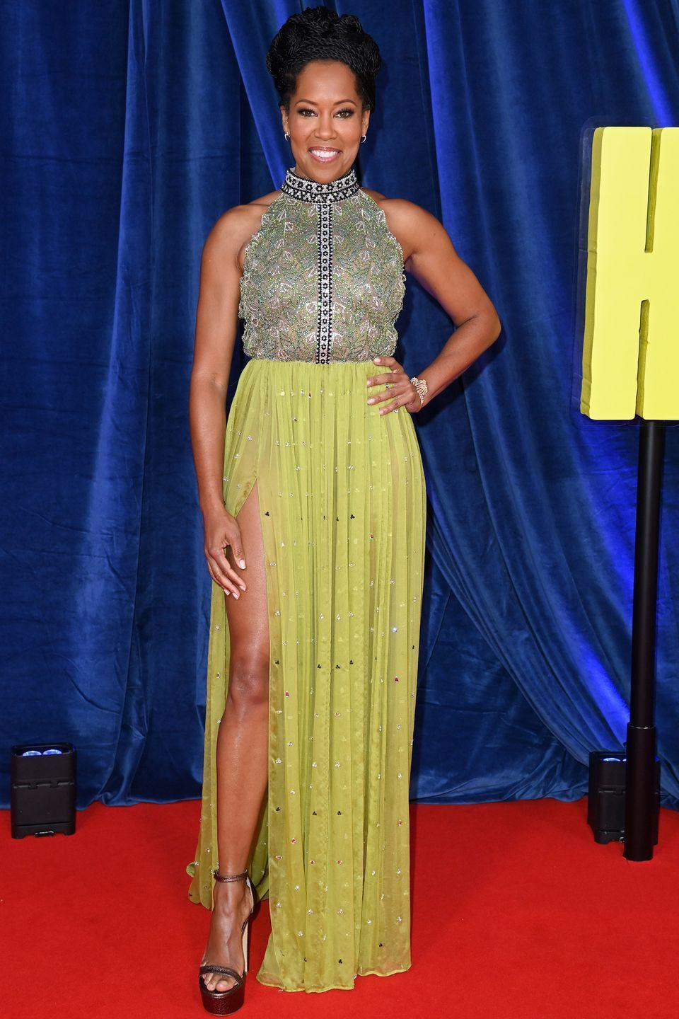 <p><strong>6 October</strong></p><p>Regina King walked the red carpet in custom Louis Vuitton. </p>