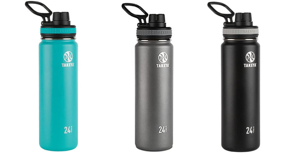 Takeya Originals Vacuum-Insulated Stainless-Steel Water Bottle, 24oz (Photo: Amazon)