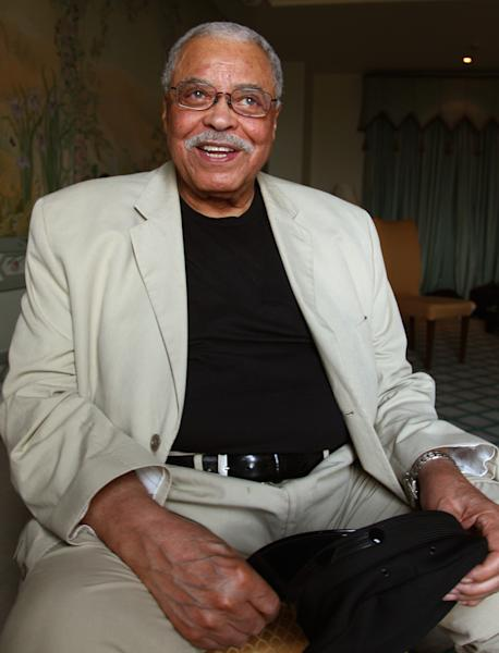 """Actor James Earl Jones poses for photos in Sydney, Australia, Monday, Jan. 7, 2013. Jones and Angela Lansbury, in Australia to star in a touring production of Alfred Uhry's Pulitzer-Prize winning play """"Driving Miss Daisy,"""" credit the thrill of performing with their seemingly endless supply of energy, which has propelled them throughout their decades-long careers. (AP Photo/Rick Rycroft)"""