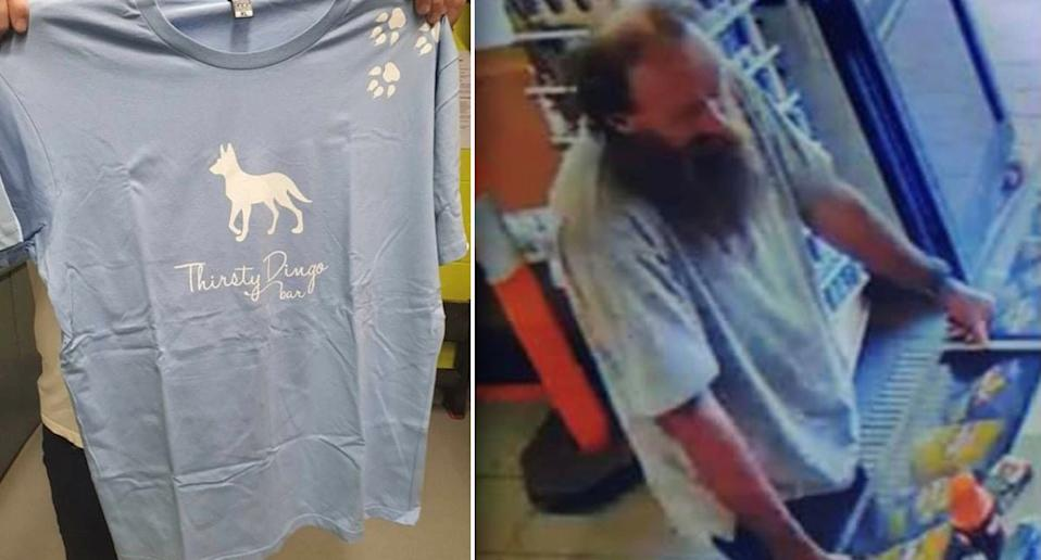 Missing man Timothy Rodwell was seen in CCTV footage wearing a blue t-shirt before his disappearance.