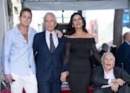<p>Kirk attends his son Michael's Hollywood Star on the Walk of Fame ceremony.</p>