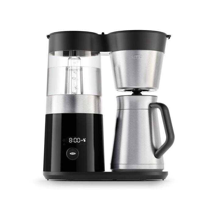 """<p><strong>oxo</strong></p><p>oxo.com</p><p><strong>$199.99</strong></p><p><a href=""""https://www.oxo.com/barista-brain-9-cup-coffee-maker.html"""" target=""""_blank"""">Buy Now</a></p><p>The precision of pour-over meets the ease of an automatic coffee maker with this model from Oxo. It heats water to the perfect temperature, then evenly disperses it over beans for max flavor.</p>"""