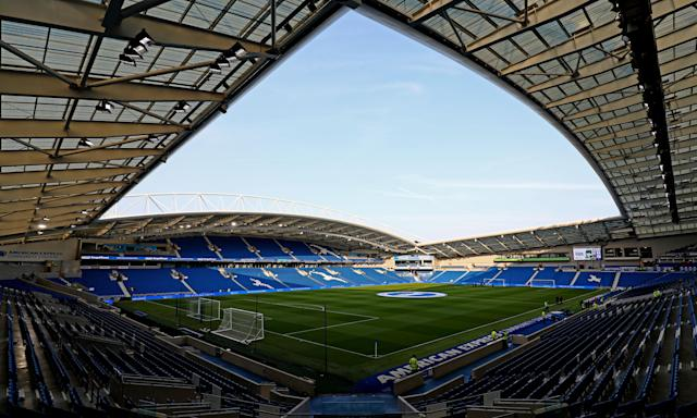 Female fans will have to access to free sanitary products at Brighton's Amex Stadium.
