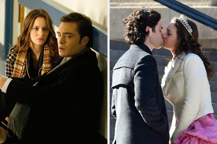 """<div><p>""""I'm a sucker for Dan and Blair. Chuck was horrible to everybody, and Blair even admitted she was a worse person around him. With Dan, however, she improved — she realized he wasn't any lesser than her just because of his class, their banter was adorable and fun to watch, and their compatibility was off the charts. I loved that they were able to connect on an intellectual level, and they felt like true equals. With Chuck and Blair, it always felt like one of them had an upper hand, while Dan and Blair felt balanced.""""</p><p>—<a href=""""https://www.buzzfeed.com/dykwya"""" rel=""""nofollow noopener"""" target=""""_blank"""" data-ylk=""""slk:dykwya"""" class=""""link rapid-noclick-resp"""">dykwya</a></p></div><span> The CW / Alo Ceballos / FilmMagic / Getty Images / Courtesy Everett Collection</span>"""
