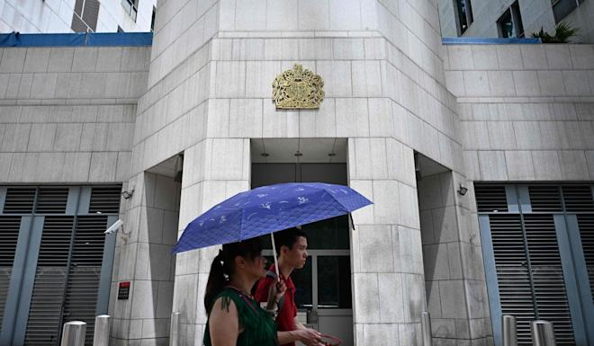 The British consulate in Hong Kong, where Cheng works. Photo: AFP