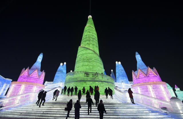 <p>With a 19-year history, Harbin's Sun Island International Snow Sculpture Art Expo has received over 2.3 million visitors. (Photo: Tao Zhang/Getty Images) </p>