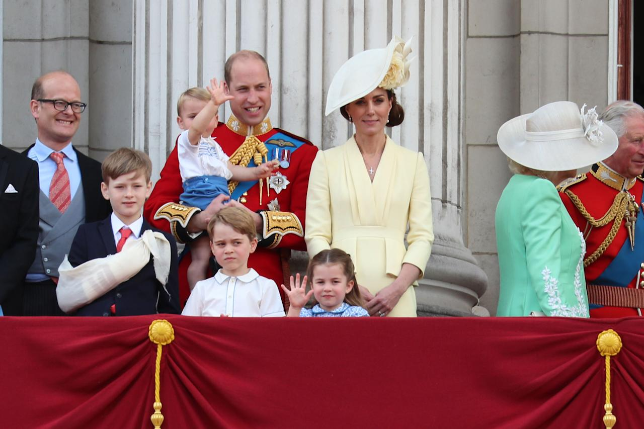 """<p>Every year, <a href=""""https://www.townandcountrymag.com/society/tradition/a10016954/trooping-the-colour-facts/"""" target=""""_blank"""">Trooping the Colour</a> (otherwise known as Queen Elizabeth's second, more public birthday celebration) occurs during a weekend in June. The parade, which is brimming with pomp and ceremony, always features public appearances by nearly ever royal family member, when they gather on the balcony of Buckingham Palace. Last year, Kate Middleton stepped away from her maternity leave to appear, and it was also <a href=""""https://www.townandcountrymag.com/society/tradition/a27612778/meghan-markle-archie-birth-trooping-the-colour-public-appearance/"""" target=""""_blank"""">Meghan Markle</a>'s very first time attending. But 2019 also proves to be an exciting year for the event, because all three of the Duke and Duchess of Cambridge's children are in attendance-and Prince George, Princess Charlotte, and Prince Louis can always be relied up to deliver a serious dose of adorable-factor. See the cutest moments from some of the youngest members of the royal family's appearance at Trooping the Colour 2019 here! </p>"""