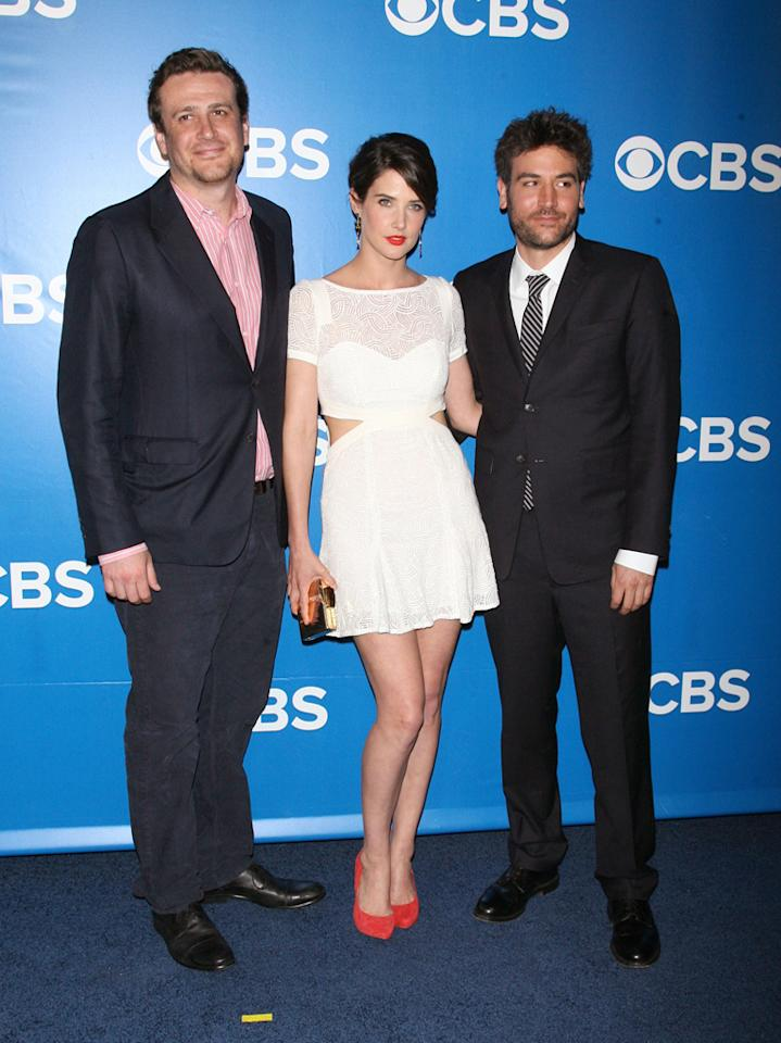 "Jason Segel, Cobie Smulders, and Josh Radnor (""How I Met Your Mother"") attend CBS's 2012 Upfront Presentation on May 16, 2012 in New York City."