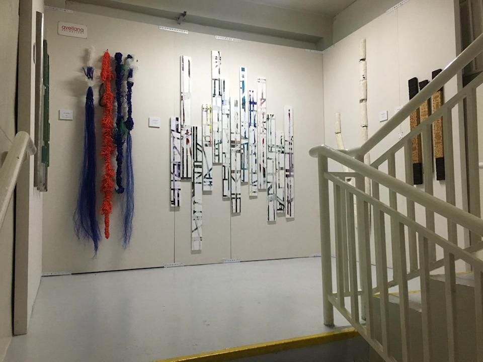 Art in the stairwell. (Photo: Therese Reyes)
