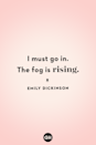 <p>I must go in. The fog is rising.</p>