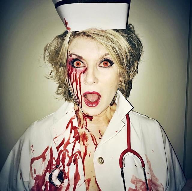 "<p>""Nurse Martha will see you now!"" exclaimed the lifestyle guru. (Photo: <a href=""https://www.instagram.com/p/BMITSLFDYM8/?hl=en"" rel=""nofollow noopener"" target=""_blank"" data-ylk=""slk:Instagram"" class=""link rapid-noclick-resp"">Instagram</a>) </p>"