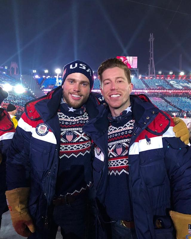 <p>shaunwhite: Let The Games Begin! Opening Ceremonies is a wrap… Walking with @Teamusa will never get old! Good luck to my friend @guskenworthy (Photo via Instagram/shaunwhite) </p>