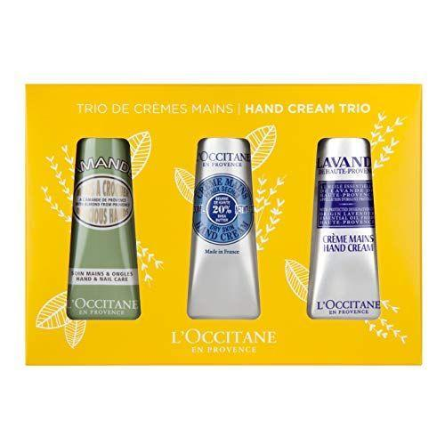 """<p><strong>L'Occitane</strong></p><p>amazon.com</p><p><strong>$29.00</strong></p><p><a href=""""https://www.amazon.com/dp/B084Q6GNX8?tag=syn-yahoo-20&ascsubtag=%5Bartid%7C10070.g.27191135%5Bsrc%7Cyahoo-us"""" rel=""""nofollow noopener"""" target=""""_blank"""" data-ylk=""""slk:Shop Now"""" class=""""link rapid-noclick-resp"""">Shop Now</a></p><p>Sometimes it's not about the gifts she wants, but about the gifts she needs, and <a href=""""https://www.womansday.com/health-fitness/g26468832/best-body-lotions/"""" rel=""""nofollow noopener"""" target=""""_blank"""" data-ylk=""""slk:who doesn't need hand lotion"""" class=""""link rapid-noclick-resp"""">who doesn't need hand lotion</a>? Brighten her Mother's Day by giving her some of the most soothing creams on the market, so she'll have one for her purse, one for her car, and a drawer at home.</p>"""