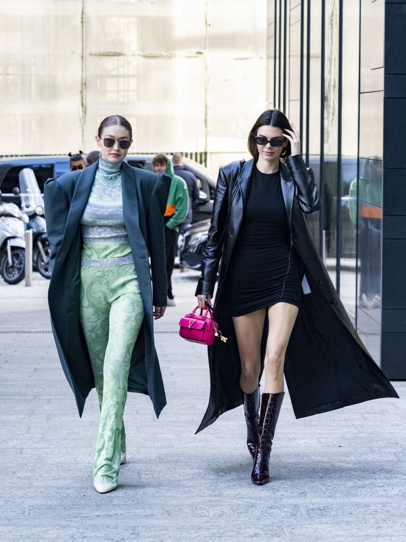 Kendall Jenner and Gigi Hadid in Milan (Photo by Arnold Jerocki/Getty Images)