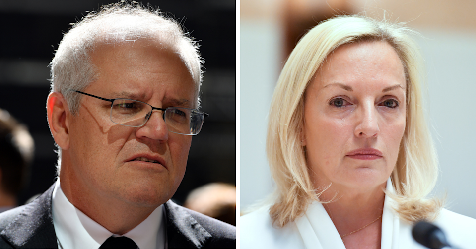 Christine Holgate said she was 'humiliated' by Prime Minister Scott Morrison. (Images: AAP).