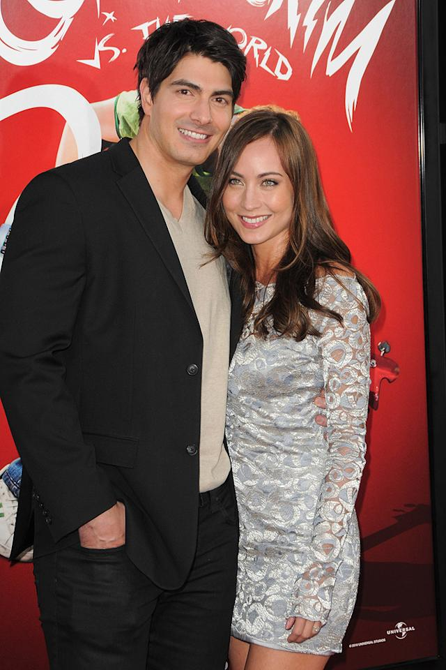 "<a href=""http://movies.yahoo.com/movie/contributor/1808522591"">Brandon Routh</a> and Courtney Ford at the Los Angeles premiere of <a href=""http://movies.yahoo.com/movie/1810070753/info"">Scott Pilgrim vs. the World</a> - 07/27/2010"