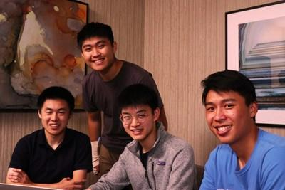 The Rove team, (from left) Daniel Ciao, Max Wu, Bryan Chiang and Lucas Xia, created an AI-based application that helps rescue workers identify damaged roads and buildings so they can plan accordingly and reach victims faster in a disaster scenario.